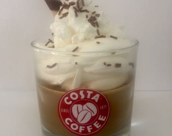 Costa Coffee Scented Candle with Vanilla Scented Cream