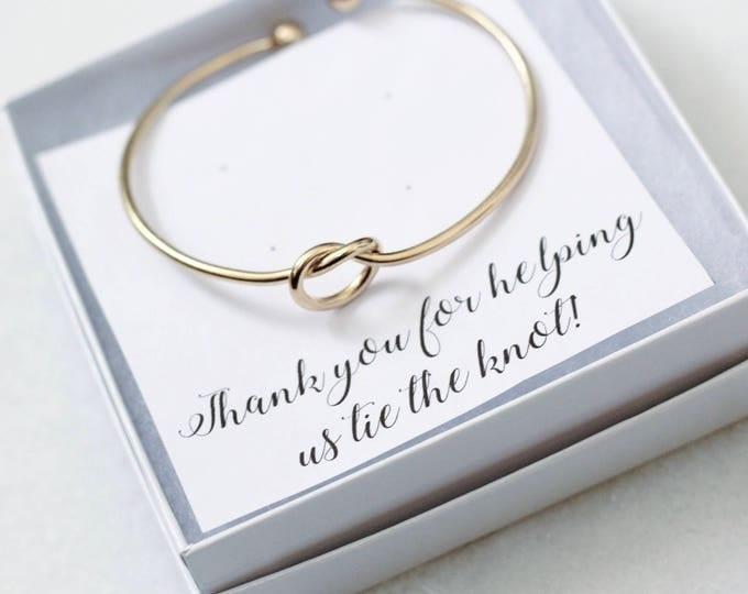 Knot Bracelet, gold bracelets, bracelet, bridesmaid gift