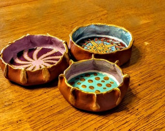 Set of 3 ring dishes