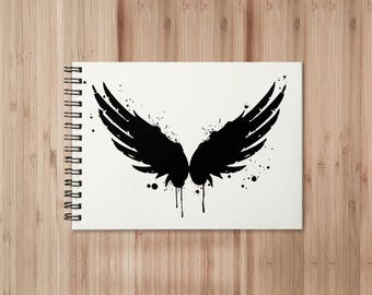Angel Wings Notebook/Sketchbook Wire Bound - Blank pages
