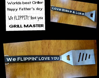 personalized fathers day grilling spatula