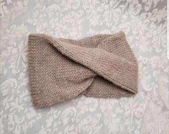 Wool knit headband