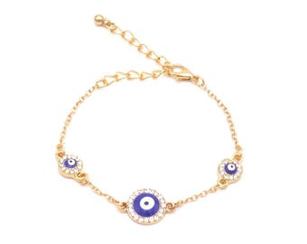 "Bracelet ""Turkish eye"" - Nazar Boncuk bracelet - gold"