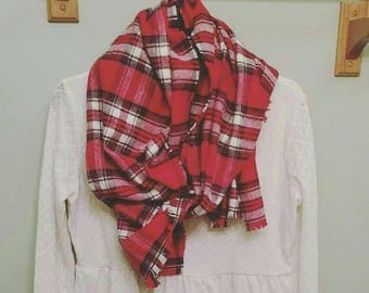 Hand Made Blanket Flannel Scarf