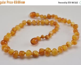 10% off Amber teething necklace for babies, Natural Baltic amber teething necklace,