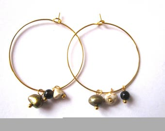 fine hoop earrings semi precious