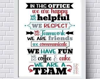 Printable for Cubicle - Gift for Manager, Cubicle Decor, Office Decor Ideas, Gift for Manager, Teamwork Quote, Instant Office Art, Teamwork
