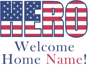 Hero Welcome Home! Edible Image for your Quarter Sheet Cake!