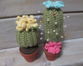 Crochet cacti/Cactus/cacti/Cactus pincushion flower/Gift/Mother gift/Cactus decor/Cactus plant/Crochet pincushion/ball pin/gift