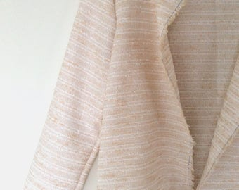 Powder Pink jacquard jacket