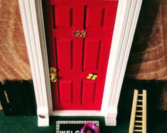 Fairy Door, Tooth Fairy Door, Elf Door, Butterfly Door, Bug Door, Doll Door, Santa Door, Miniature Door, Small Door Red Door, Children Door.