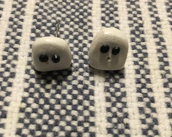 Ghost stud earrings