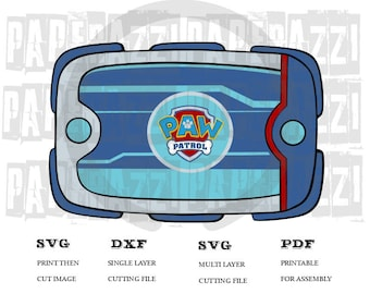Paw Patrol SVG DXF Electronic cutting files for Cricut Design Space - Silhouette Studio