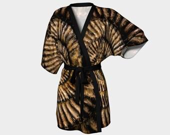 Fossil Face' Kimono Robe