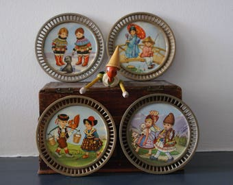 Coasters with sweet pictures of children in costume