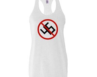 No 45 Anti Donald Trump Anti Nazi Swastika Shirt Tank Top punk resist antifa trump sucks If You're Not Outraged You're Not Paying Attention