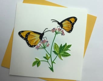 Butterfly Quilling Greeting Card