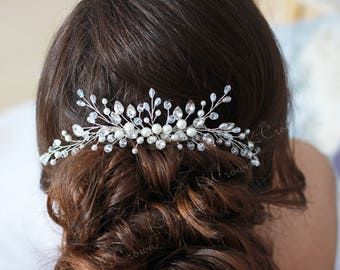 Bridal hair comb Wedding hair comb Bridal headpiece Wedding hair piece Pearl hair comb Pearl hair piece hair jewelry
