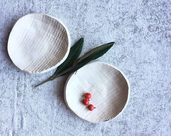Winter White Small Porcelain Dishes