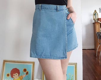 Vintage Light/Medium Wash Denim Skort