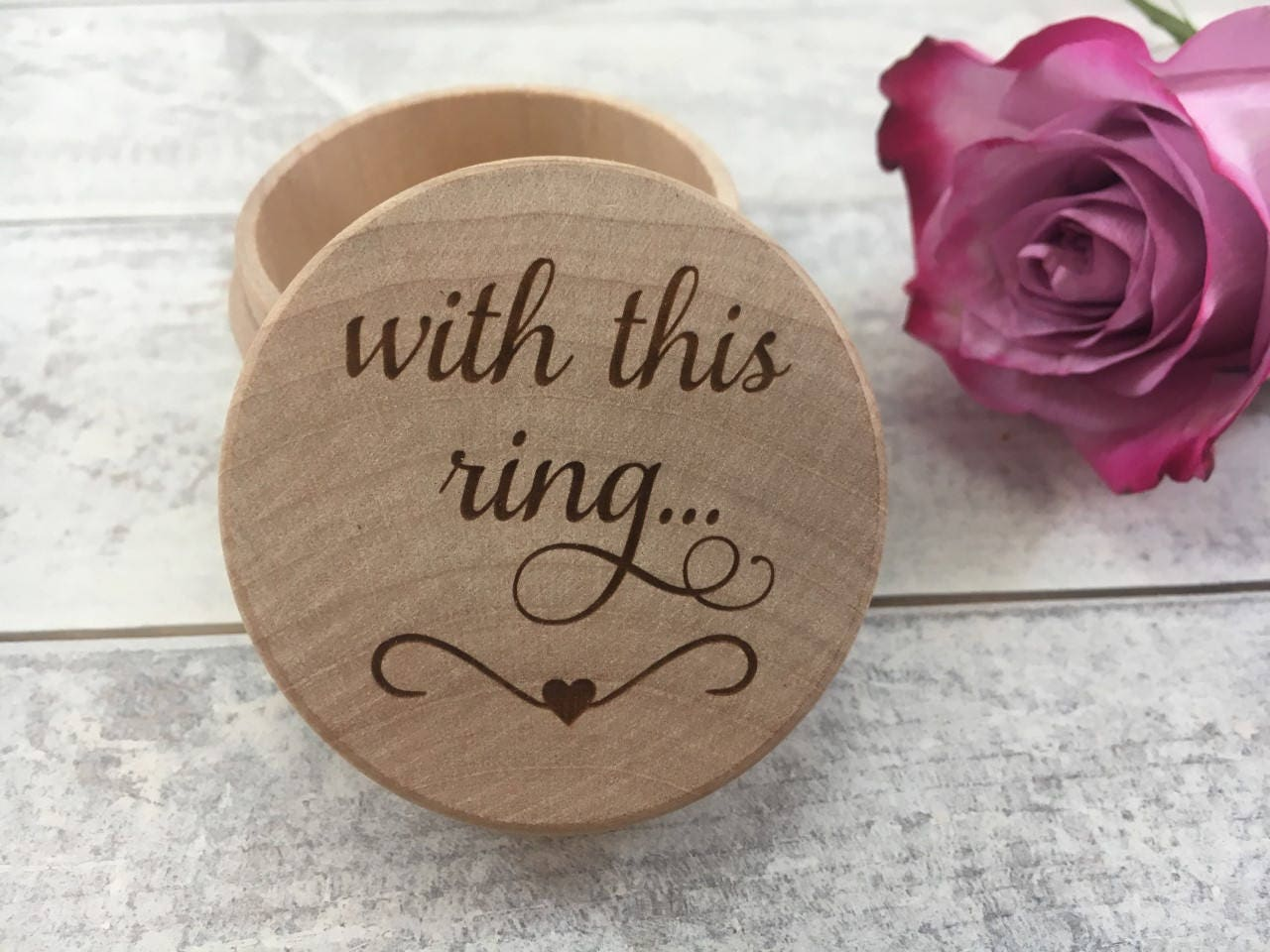 Engraved With This Ring Wedding Ring Box Engraved Wedding Ring Box