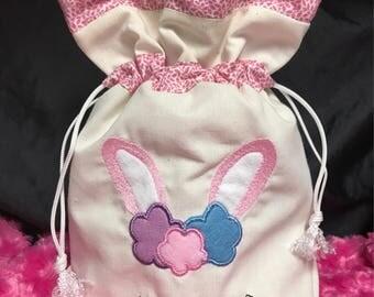 Bunny drawstring bag