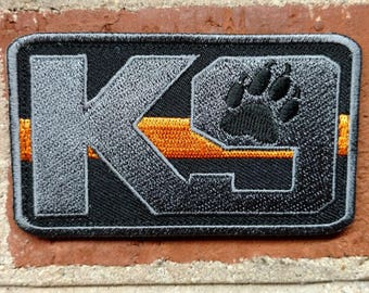 Search and Rescue K9 (Orange Line) - Morale/Tactical Patch