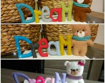 Décoration ourson pour chambre d'enfant