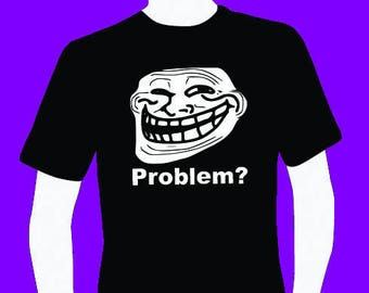 Internet meme Troll men's T-shirt