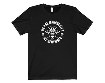 Manchester Bee 008 We Are Manchester Manchester Arena Streetwear Manchester Pride Tshirt 90S Hip Hop Clothing