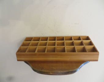 Small storage box with 24 squares. trinkets office desk decor w/ free ship
