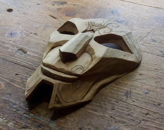 Jhin Mask Hand Carved League Of Legends Jhin The Virtuoso Inspired