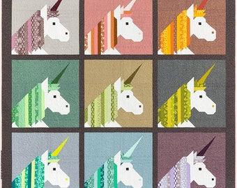 PRE-ORDER Lisa The Unicorn Quilt Kit featuring Terrarium by Elizabeth Hartman