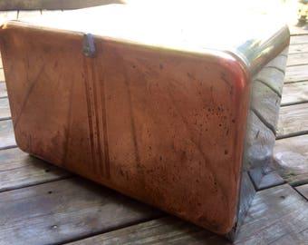 Vintage Copper and Chrome Bread Box