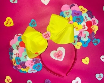 Valentine's Day Candy Heart Mouse Ears