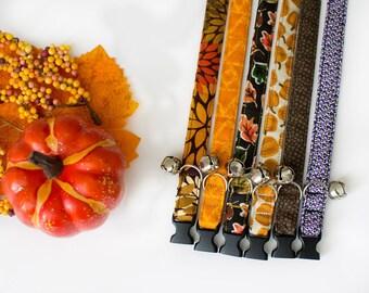 Fall Cat Collar- Thanksgiving Collar- Holiday Cat Collar- Autumn Cat Collar- Pumpkin Cat Collar- Mum Cat Collar- Leaves Cat Collar- Harvest