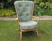 Ercol 478 Double Bow Windsor easy chair  mid century classic armchair  new foam and upholstery