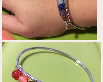 Eaded bangle chakra bracelet