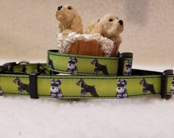 Miniature Schnauzer Handmade Dog Collar 5/8 Inch Wide Medium & Small