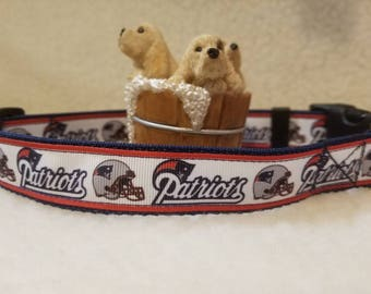 Patriots Handmade Dog Collar 1 Inch Wide Large & Medium