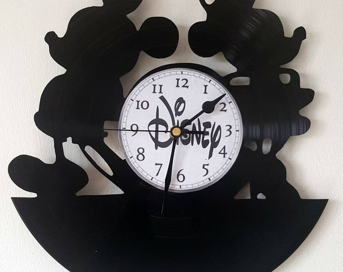 Vinyl 33 clock towers Mickey and Minnie theme