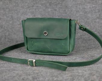 Women's crossbody bag «Macaron»XL / Crossbody bag, Womens leather bag, Leather bag, Leather purse, Leather shoulder bag, shoulder bag, Gift