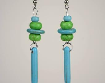 RR#102 Green Pastures Drop Earrings