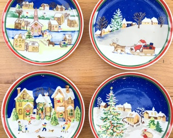 Decorative Christmas Plates For The Wall Simple Christmas Wall Plate  Etsy Decorating Design