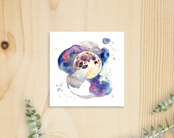 Residing on the Moon (Gold-Embellished) Print