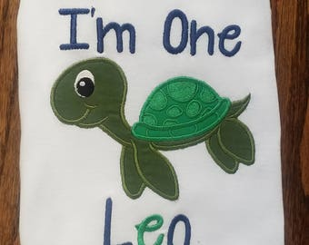 Sea Turtle Birthday Shirt/ Turtle Birthday Shirt