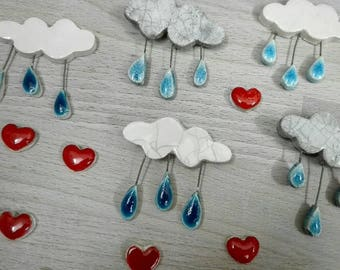 ceramic cloud brooch