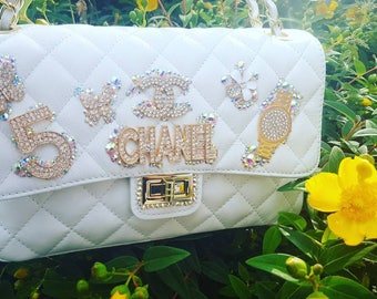 Bag Jewel White and Gold