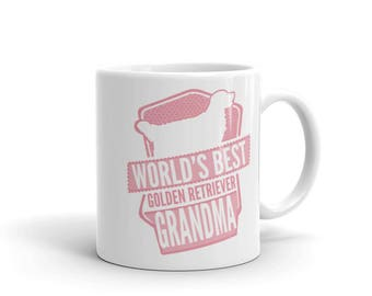 World's Best Golden Retriever Grandma Mug - Funny Cute Golden Retriever Gift - Gift For Mom / Grandma - Dog Lover - Coffee Mug