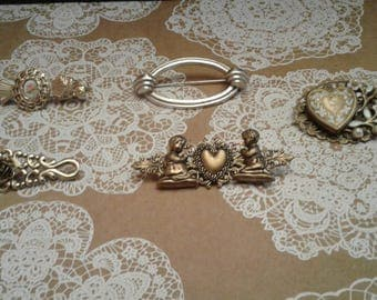 Assortment of Victorian Revival Brooches, Choose One